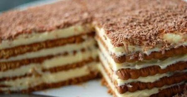 Keks torta sa pudingom recept - kako se pravi